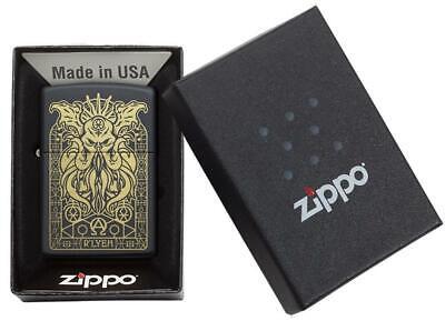 Zippo Windproof Engraved Demonic Monster Lighter, 29965, New In Box 3
