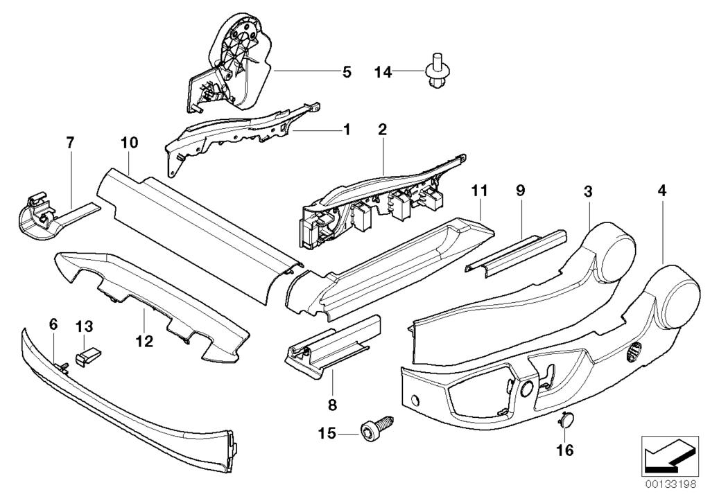 BMW X5 E70 Neu Seat Oberschenkel Unterstützung Stellmotor Reparatur Ersatz Gear
