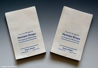 Konvolut etwa 95 gleichartige Tüten aus Drogerie um 1960 (mittel)