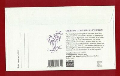 1994 Christmas Island Trains SG 389/91 FDC or fine used set