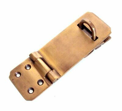 "4 box catch hasp latch vintage style house DOOR aged heavy rectangle 4.1/4"" B 3"