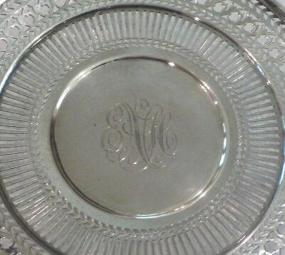 "Watson Sterling Silver Reticulated 8"" Sandwich/Dessert Plate / Tray, #4558 2"