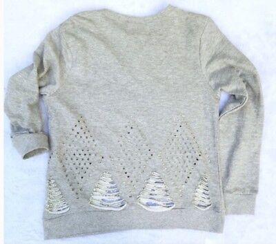 Pepin Gretchen V-Neck Striped Blouse In Burgundy Size M