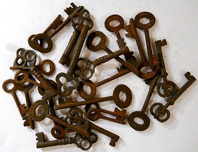 Rusty ornate Skeleton 1800's keys 25 pc lot steampunk #220725 3