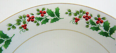 """Gibson Everyday Christmas """"Holly & Berry"""" Set Of 4 Soup / Cereal Bowls 4"""