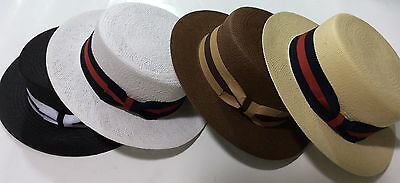 New Men's Bruno Capelo Hat Straw Boater Gatsby barbershop skimmer Fashion Colors 2