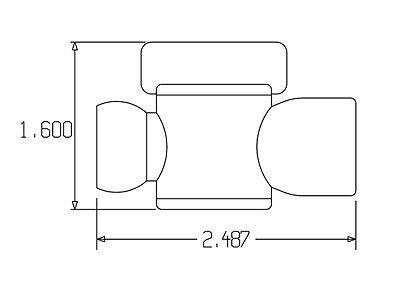 """1//2/"""" Female NPT Flow Control Valves 1//2/""""Loc-Line® USA Original System #32093 2"""
