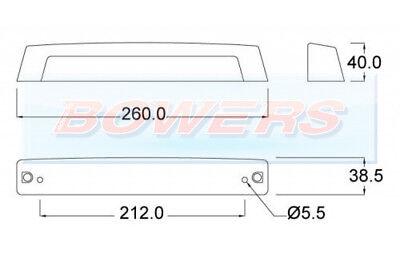 Jokon K307 Large Silver Rear Number Plate Light Lamp Caravan Motorhome 22817 2