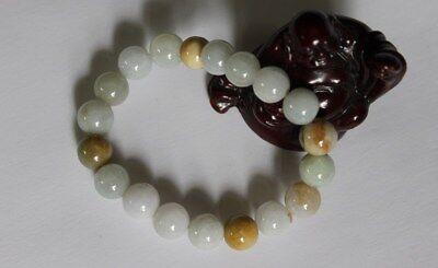 Gemstone 100% Natural Grade A JADE Jadeite Untreated Multi-Color Beads Bracelet 5