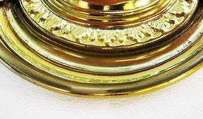 "Federal Brass Hepplewhite Antique Hardware Vintage Drawer Pull Oval 2 1/2""center 4"