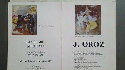 """JUANITO OROZ """" Alarde de Fuenterrabía """" Acuarela Firmado Unico 1976 Enmarcado 7"""