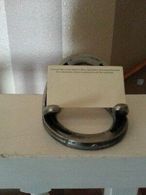 Horseshoe business card holder 1500 picclick 6 of 9 horseshoe business card holder colourmoves