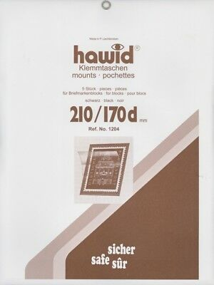 Hawid Stamp Mounts Strips - All x 210mm wide - Black or Clear -  SAVE 20% 11