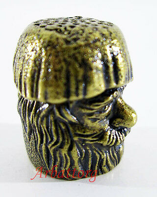 New Fingerhut.Bronze Brass Thimble Russian Miniature beautiful Matryoshka