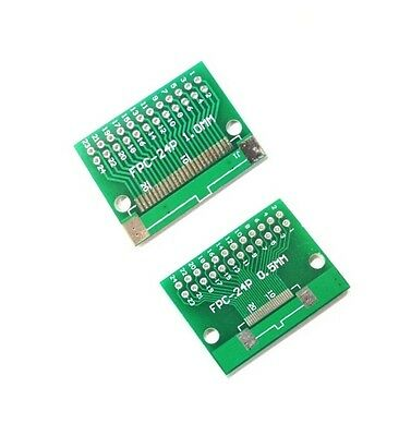 5pcs FFC//FPC 30 Pin 1mm 0.5mm to DIP Adapter PCB Board Converter Double Side M85