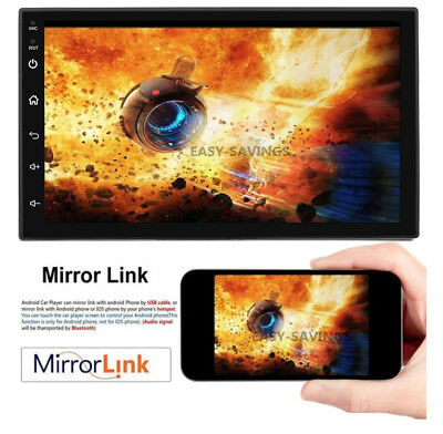 """Android 8.1 Car Stereo GPS Navigation Radio Player Double Din WIFI 7"""" 7"""