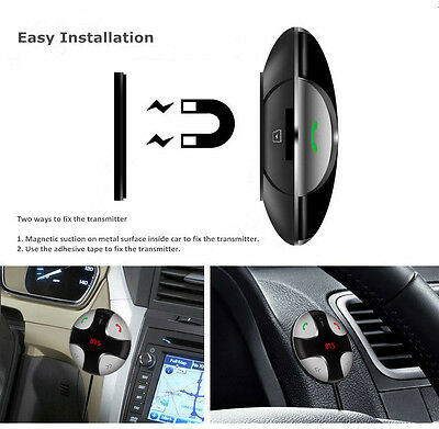 Handsfree Wireless Bluetooth FM Transmitter Car Kit Mp3 Player with USB Charger 10