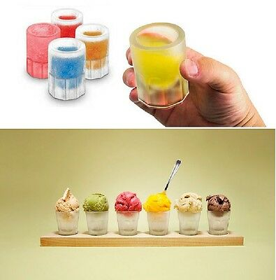 4-Ball Whiskey Ice Cube Maker Mold Sphere Mould Party Round Bar Ice Shot Glasses 12