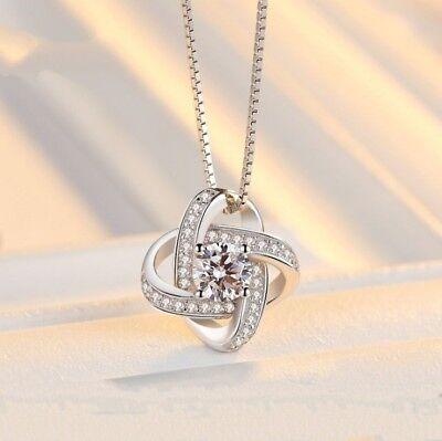 925 Sterling Silver Swirl Pendant Chain Necklace Stud Earrings Womens Jewellery 2