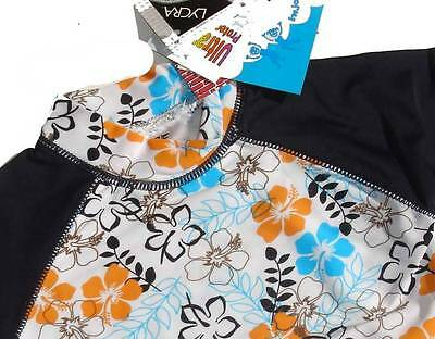 Size 00 0 1 2 3 BaBy GirlS Blue White Black Floral Rashie Rash Vest Swimwear