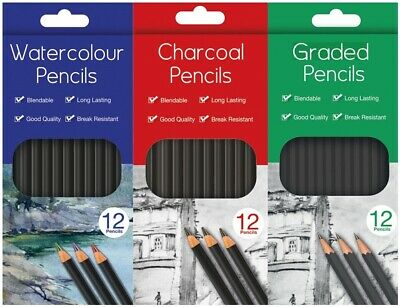 Water Colour Charcoal Sketching Pencils Drawing Set of School HB Artist Colour 2