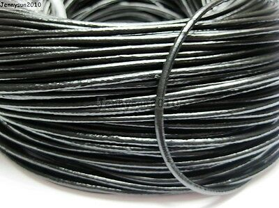 Genuine Leather Cord Thread For Diy Bracelet Necklace Jewelry Making 10M 100M 3