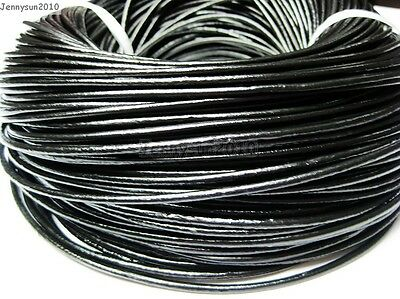 Genuine Leather Cord Thread For Diy Bracelet Necklace Jewelry Making 10M 100M 5