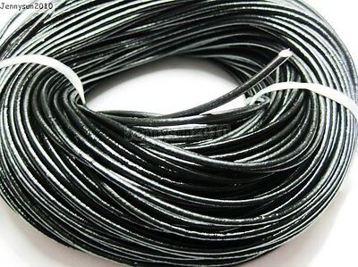 Genuine Leather Cord Thread For Diy Bracelet Necklace Jewelry Making 10M 100M 4