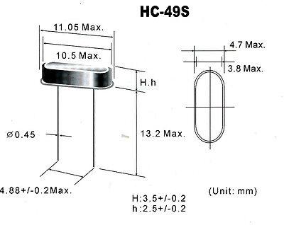 QRP Ham Radio Crystals HC49//S 7.048MHz 10 pack
