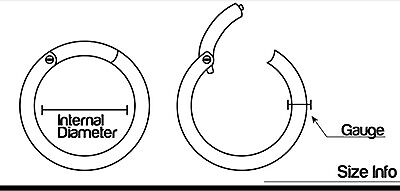 Surgical Steel Hinged Segment Clicker Hoop Ring Lip Ear Nose Body Piercing 1pc 3
