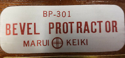 "SPI 30-395-8 6.0"" Blade 360 Deg BP-301 Marui Keiki Bevel Protractor #5A-C0034 6"