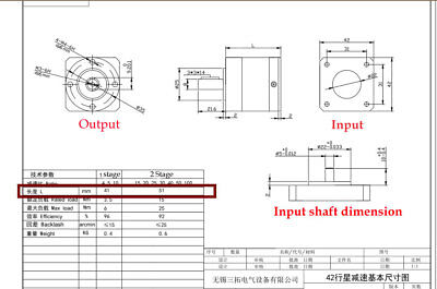 Nema17 Planetary Gearbox 5:1 10:1 15:1 20:1 25:1 30:1 40:1 50:1 Stepper Reducer