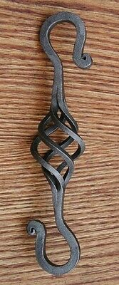 """Wrought Iron 3 1/8 in., 5/16"""" square, S-Hook Hanger, Hand Forged by Blacksmiths 9"""