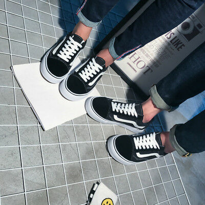 MENS WOMENS VAN Classic OLD SKOOL Low Top Casual Canvas sneakers Shoes 3