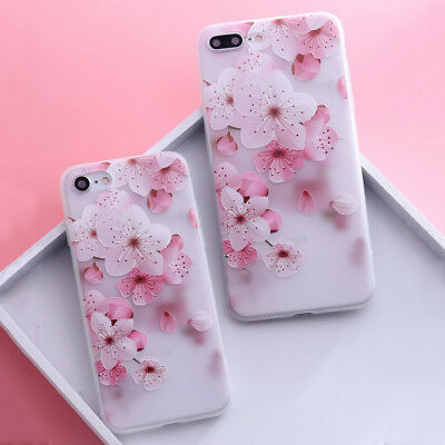 Shockproof Slim Soft TPU Matte Floral Pattern Cover Case For iPhone X 8 6 7 Plus 11