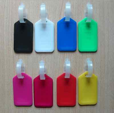 10 Travel Luggage Bag Tag Plastic Suitcase Baggage Office Name Address ID Label 5