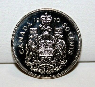 1970 Canada 50 Fifty Cent Proof Like Coin 3
