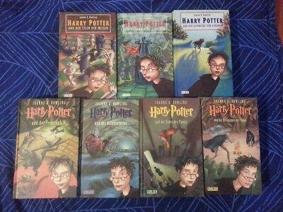 Harry Potter Büchersammlung Band 1-7 komplett, deutsch, gebunden, guter Zustand 2