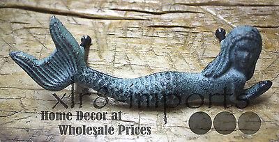 6 Cast Iron NAUTICAL MERMAID Style Drawer Pull, Barn Handle, Door Handles Beach 4 • CAD $30.10