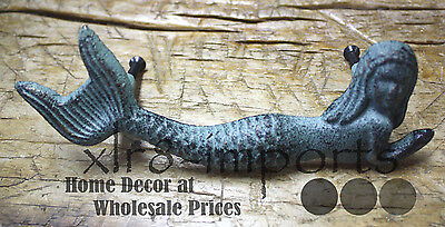 2 Cast Iron NAUTICAL MERMAID Style Drawer Pull, Barn Handle, Door Handles Beach 4