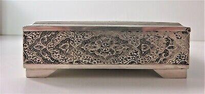 Hallmarked Silver Hand Crafted Jewelry Cigar Box 9