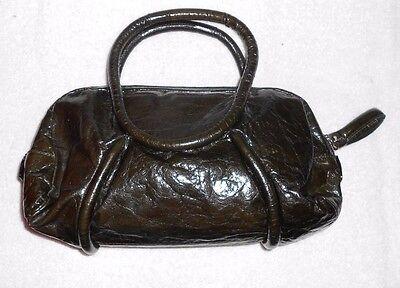 NANNINI verni 5 à main vert TBE cuir sac sur 10 bronze OCxPwqxEg