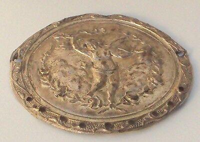 Pompous Post Medieval Silver Plated Angel Applique # 832 2 • CAD $56.61