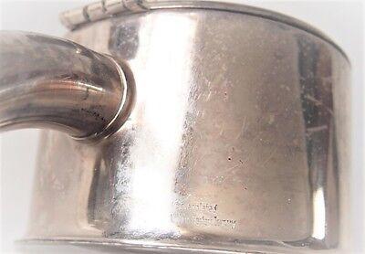 VTG W. Germany Cocktail Cut Glass Claret Jug/ Cooler Inside Silver plated Collar 12