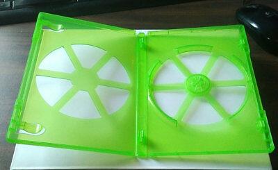 NEW! Green 2 Pk Viva Elite Premium 14 mm DVD Case Single Eco Box 1 Disc Holder