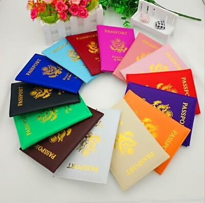 Leather Passport Holder Cover Travel case Wallet USA Emblem Gold 2