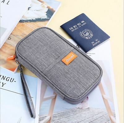 Travel Wallet Passport Holder Credit Card Case Document Ticket Organizer Bag 7