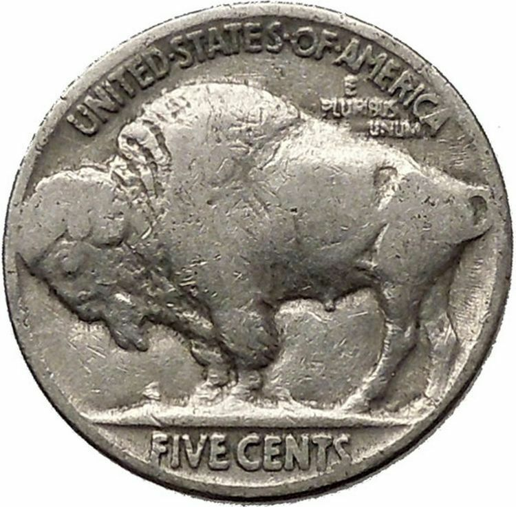 1936 BUFFALO NICKEL 5 Cents of United States of America USA Antique Coin i43860 2