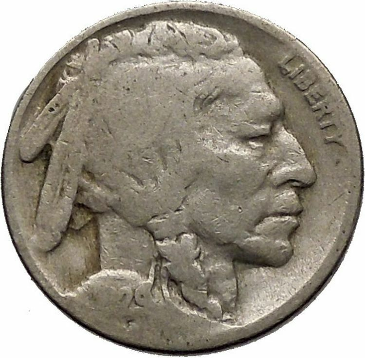1929 BUFFALO NICKEL 5 Cents of United States of America USA Antique Coin i43736 2