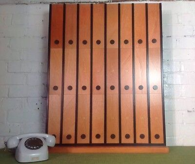 Vintage Pigeon Hole With Sliding Doors Made In Poland Storage Unit 2